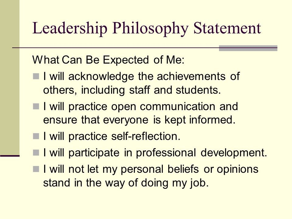 Personal Leadership Philosophy Examples Personal Leadership Philosophy Dissertation