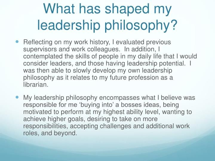 Personal Leadership Philosophy Examples Ppt My Personal Leadership Philosophy Powerpoint