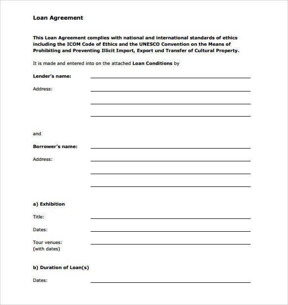 Personal Loan Documents Template Sample Personal Loan Agreement 6 Free Download Free