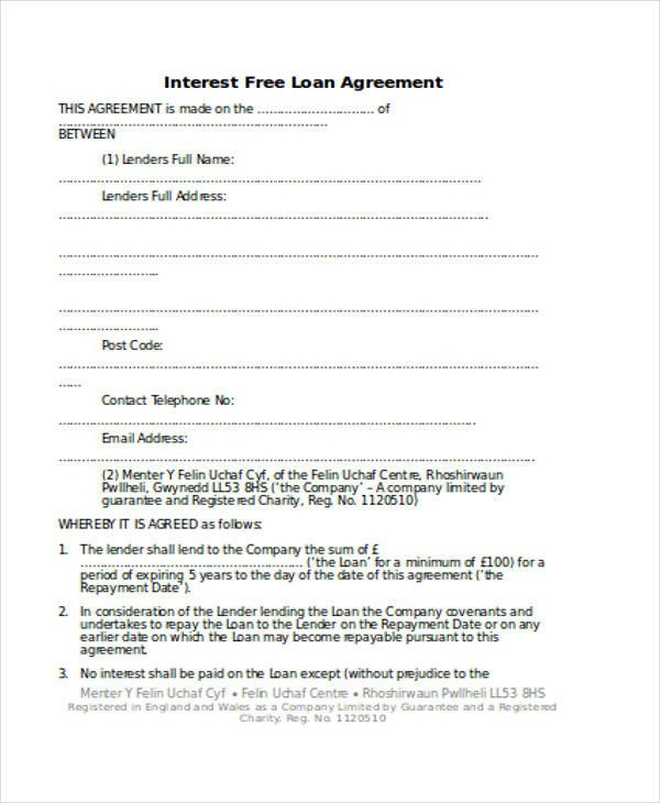 Personal Loan form Template Loan Agreement form Template