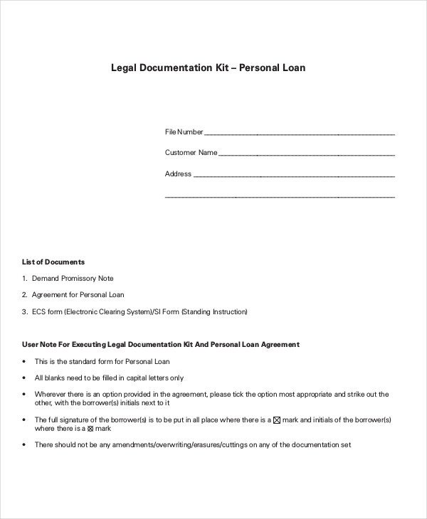 Personal Loan form Template Loan Agreement Template 18 Free Word Pdf Document