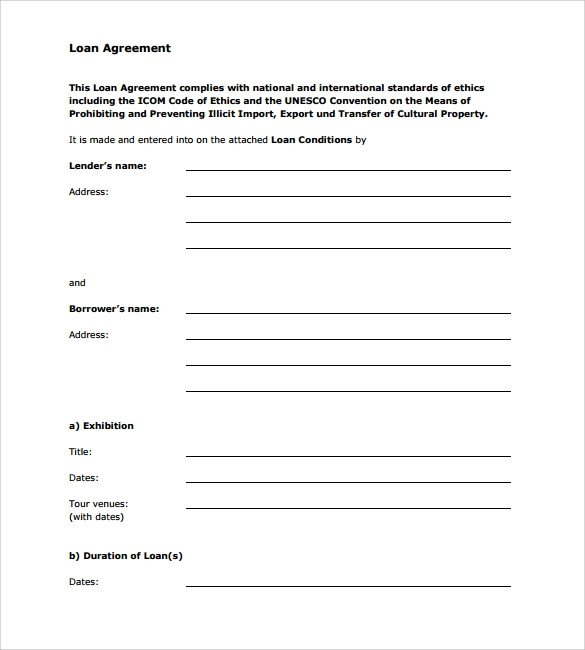 Personal Loan form Template Sample Loan Agreement 12 Free Documents Download In Pdf