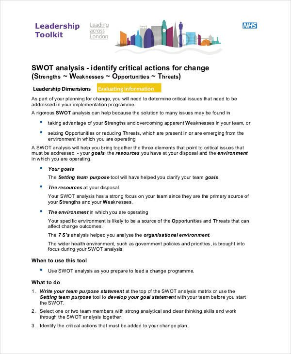 Personal Swot Analysis Examples 38 Swot Analysis Examples & Samples Pdf Word Pages