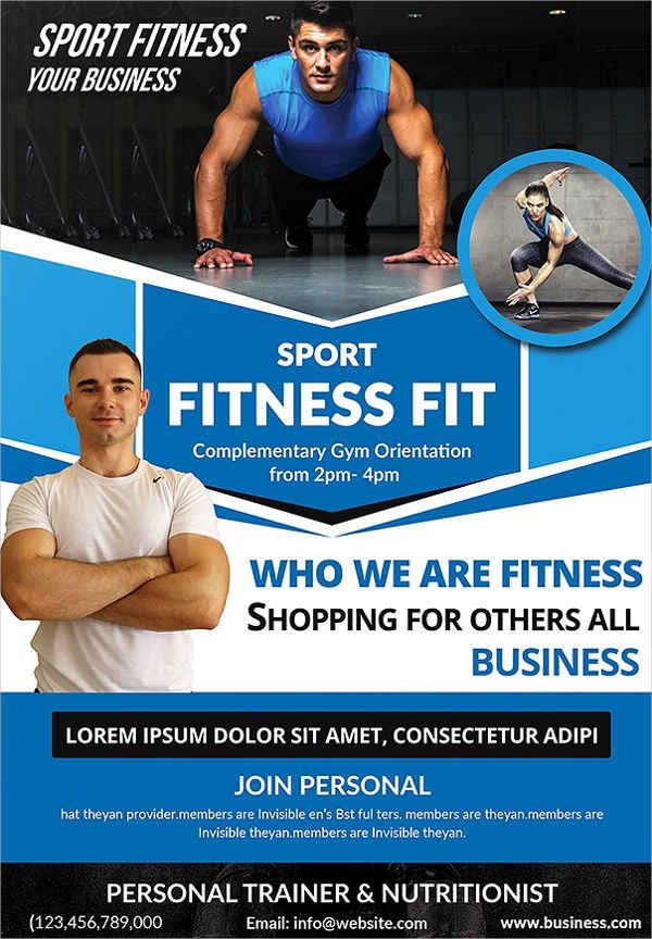 Personal Trainer Flyer Template 24 Fitness Flyer Designs Psd Word Publisher