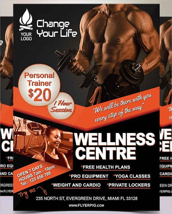 Personal Trainer Flyer Template 51 Printable Fitness Flyers Psd Eps Word formats