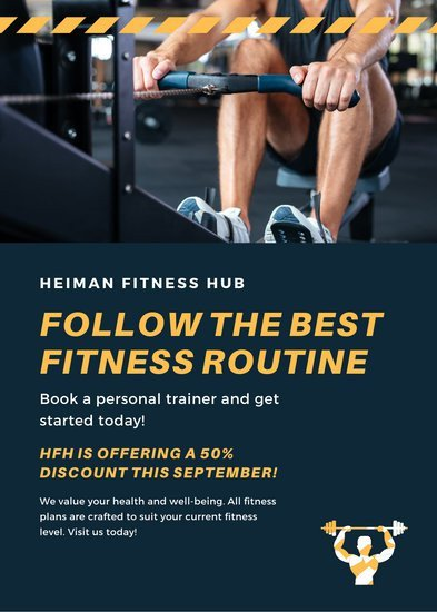 Personal Trainer Flyer Template Customize 62 Fitness Flyer Templates Online Canva