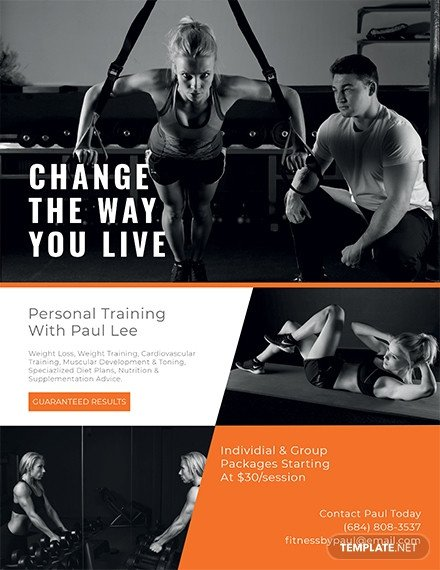 Personal Trainer Flyer Template Free Flyer Templates Download Ready Made