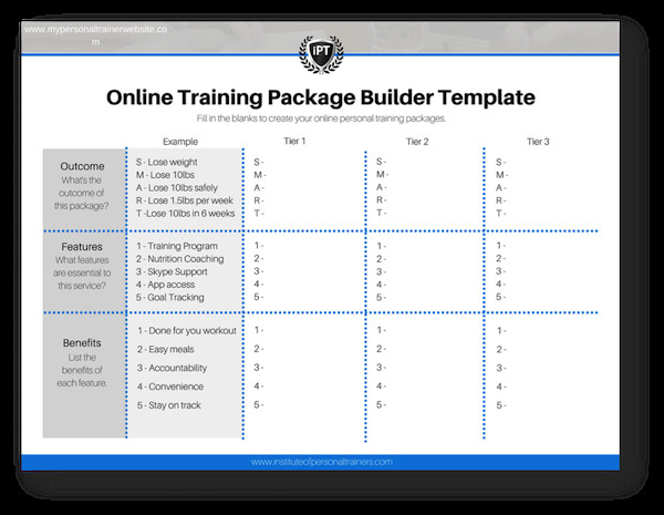 Personal Training Pricing Template How to Build Your Line Personal Training Packages