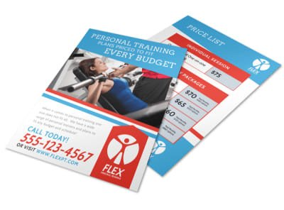 Personal Training Pricing Template Medical & Health Care Templates