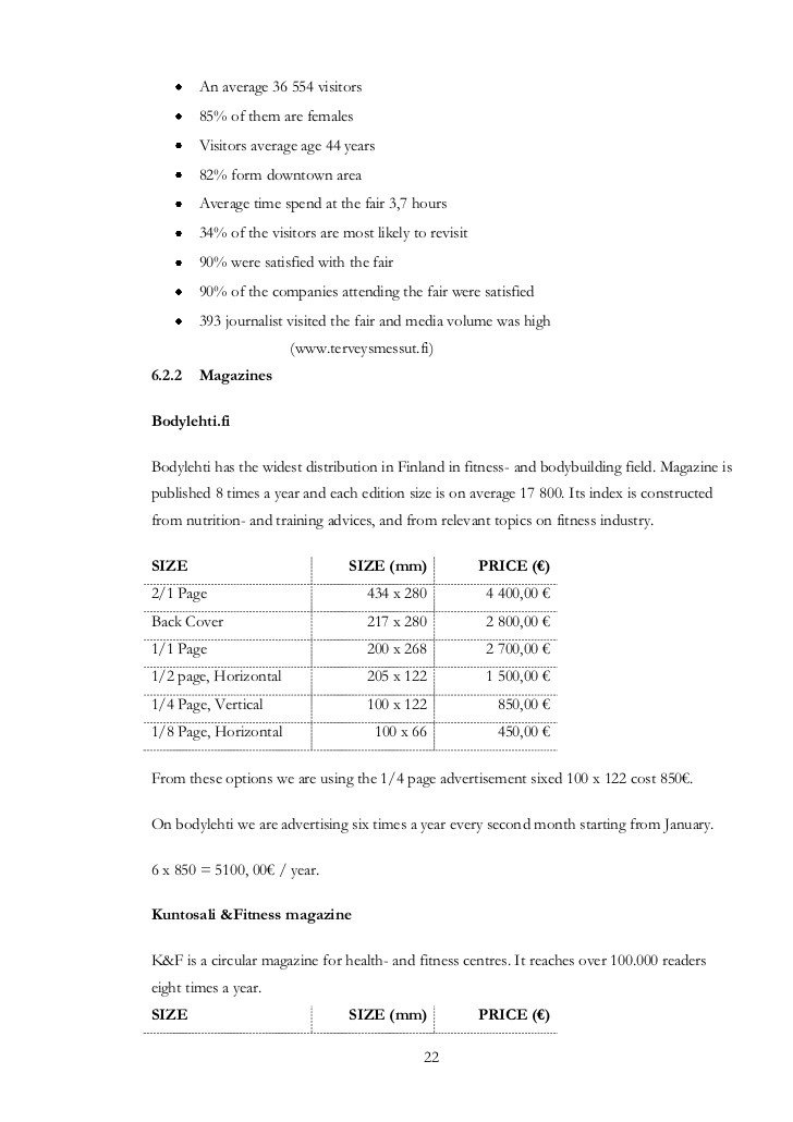 Personal Training Pricing Template Personal Training Business Plan