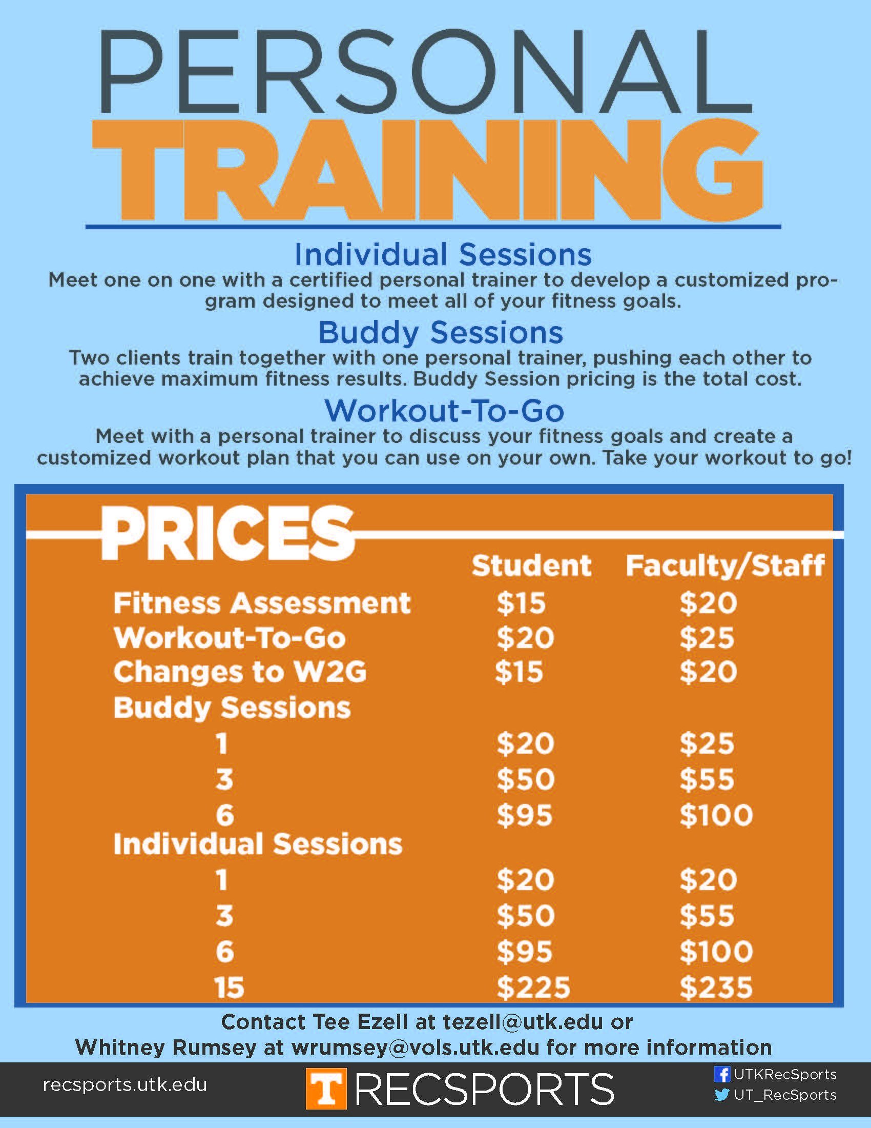 Personal Training Pricing Template Personal Training Flyer