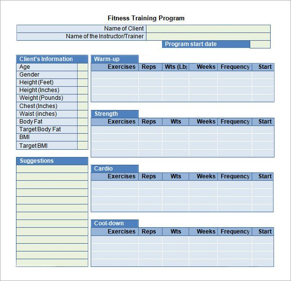 Personal Training Templates Free Free 17 Sample Training Plan Templates In Google Docs