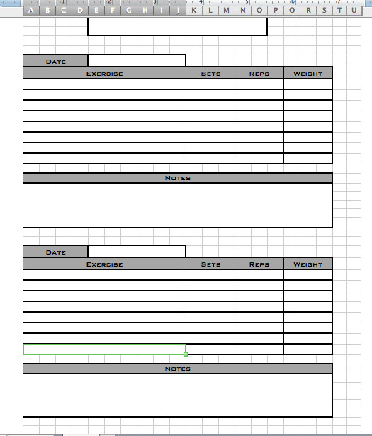 Personal Training Templates Free Personal Workout Log Template