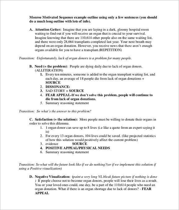 Persuasive Speech Outline Examples Persuasive Speech Outline