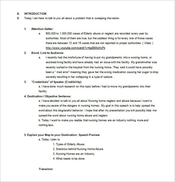 Persuasive Speech Outline Templates 4 Persuasive Speech Outline Templates Pdf Doc