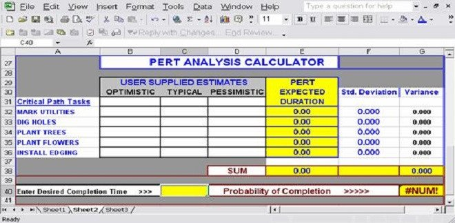 Pert Chart Template Excel Download Free Excel Pert Chart Templates for Project
