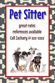 Pet Sitting Flyer Template Customize 460 Pets Flyer Templates