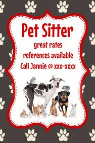 Pet Sitting Flyer Template Customize 510 Pets Flyer Templates