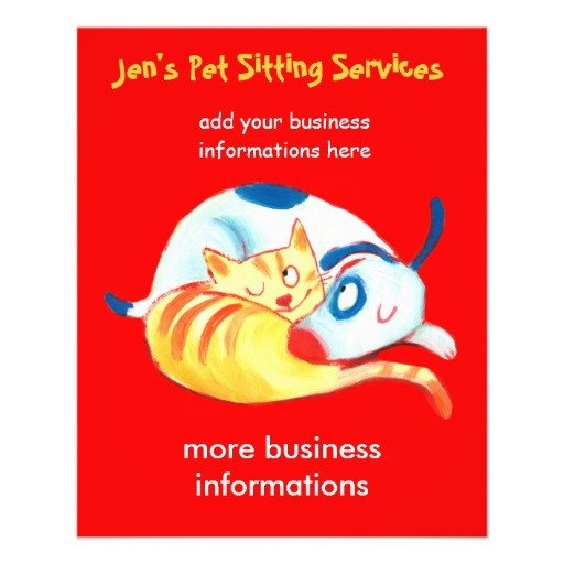 Pet Sitting Flyer Template Jen S Pet Sitting Services Flyer