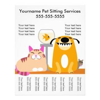 Pet Sitting Flyer Template Pet Sitter Flyers & Programs