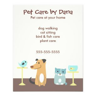 Pet Sitting Flyer Template Pet Sitter Flyers