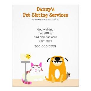 Pet Sitting Flyer Template Pet Sitter Flyers