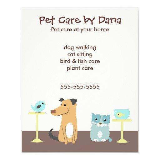 Pet Sitting Flyer Template Pet Sitter S Advertising Custom Flyer