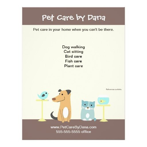 Pet Sitting Flyer Template Pet Sitter S Promotional Flyer