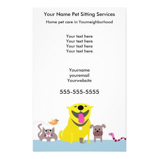 Pet Sitting Flyer Template Pet Sitters Flyer Blue Flyer