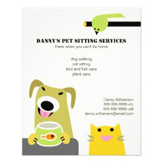 Pet Sitting Flyer Template Pet Sitting Business Full Color Flyer