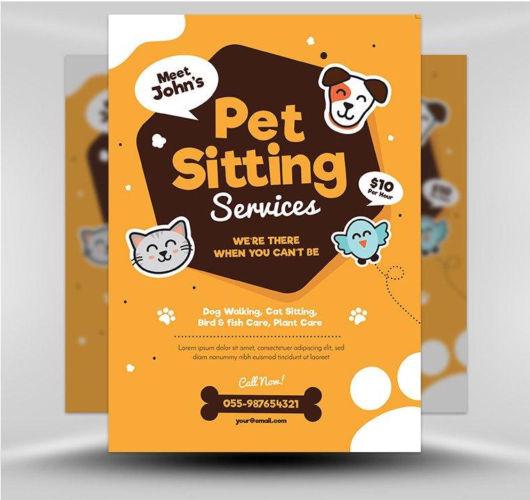 Pet Sitting Flyer Template Pet Sitting Flyer V1 Flyerheroes
