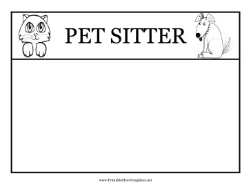 Pet Sitting Flyer Template Pet Sitting Flyers