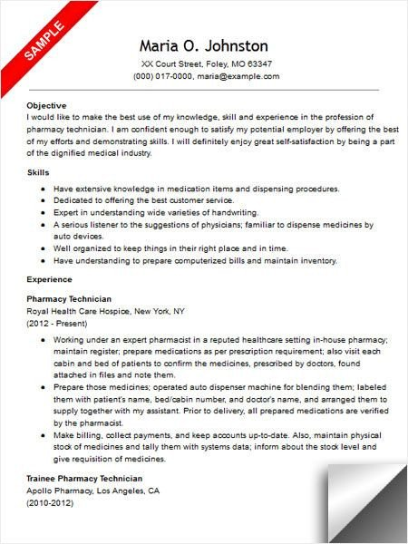 Pharmacy Technician Resume Sample Best 223 Riez Sample Resumes Images On Pinterest