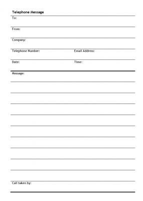 Phone Message Pad Template 4 Free Message Templates Word Excel Pdf formats