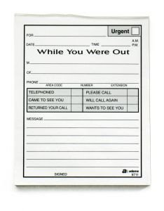 Phone Message Pad Template while You Were Out