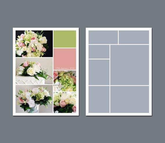 Photo Collage Template Download Instant Download Collage Template by Lucyrosedesigns