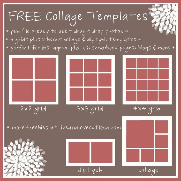 Photo Collage Template Free 28 Best Images About Free Collage Templates On Pinterest