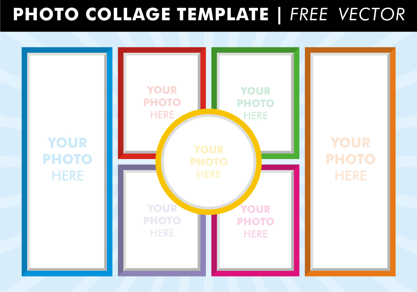 Photo Collage Template Free Collage Templates Vector Download Free Vector Art