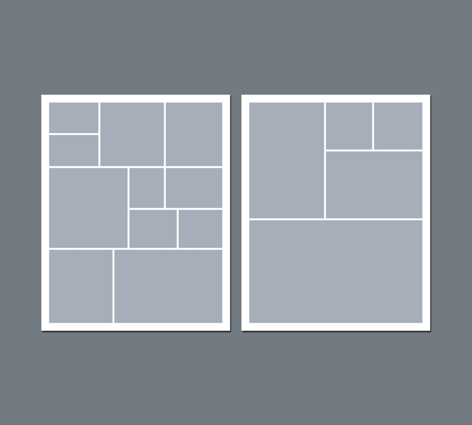 Photo Collage Template Free Instant Download Digital Collage Template 8 X 10