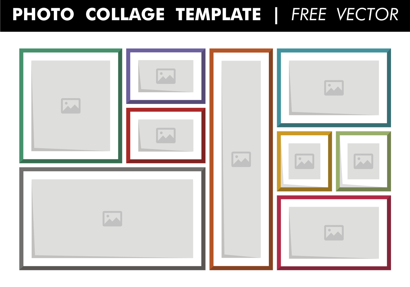 Photo Collage Templates Free Download Collage Template Free Vector Download Free Vector