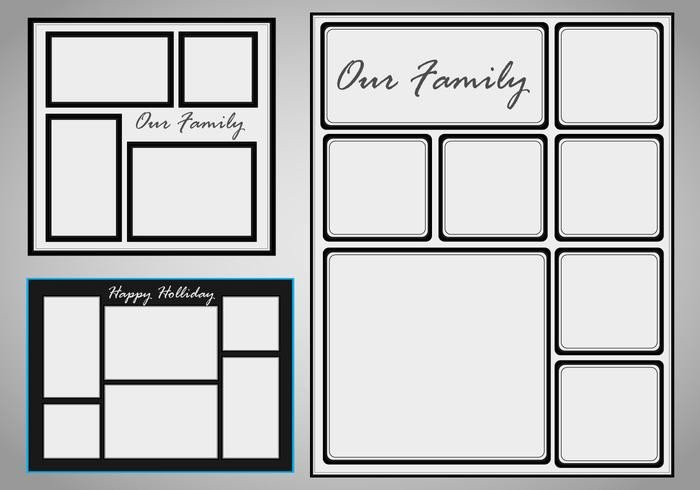 Photo Collage Templates Free Download Collage Template Vector Set Download Free Vector