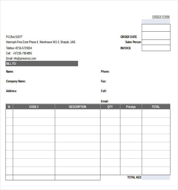 Photo order form Template 29 order form Templates Pdf Doc Excel