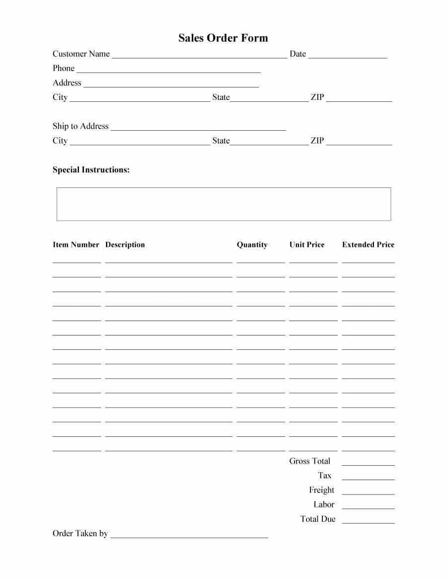 Photo order form Template 40 order form Templates [work order Change order More]