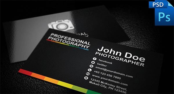 Photography Business Card Templates 76 Best Psd Business Card Templates