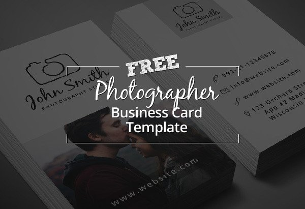 Photography Business Card Templates Freebie – Minimal Grapher Business Card Psd Template