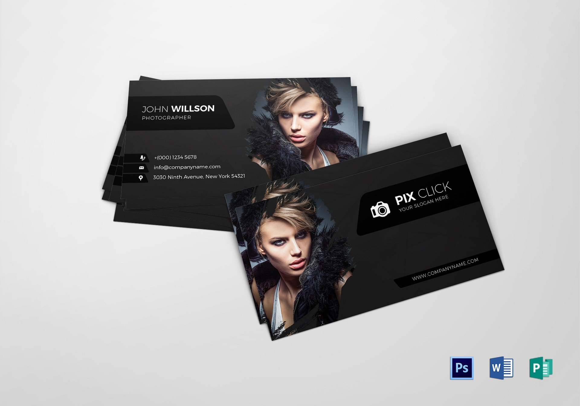 Photography Business Card Templates Grapher Business Card Design Template In Psd Word
