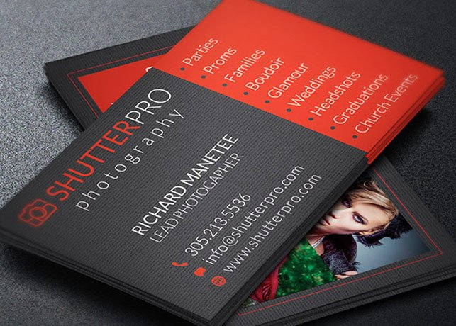 Photography Business Card Templates Graphy Business Card Template