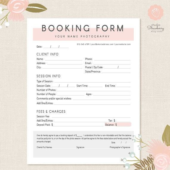 Photography Client Questionnaire Template 25 Best Ideas About Graphy Contract On Pinterest