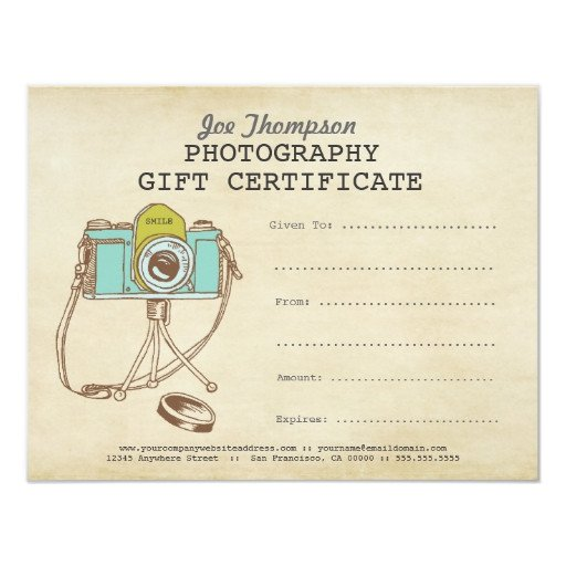 Photography Gift Certificate Template Grapher Graphy Gift Certificate Template 4 25x5