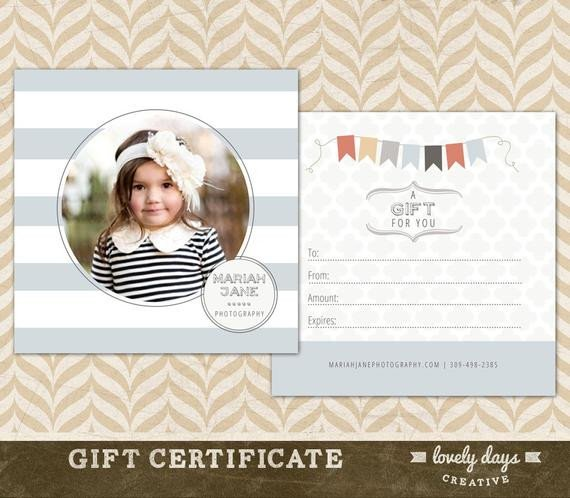 Photography Gift Certificate Template Graphy Gift Certificate Template for Graphers